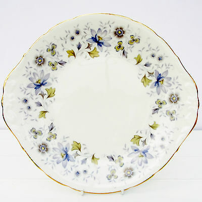 Vintage Colclough Rhapsody in Blue Cake Plate Bone China Floral