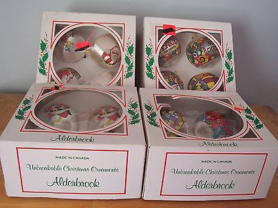 Lot Of 16 Vintage Unbreakable Alderbrook Christmas Ornaments - Made In Canada