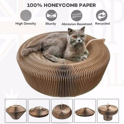 Cat Scratcher Lounge Collapsible Cardboard Scratcher Toy Scratching Post Pad