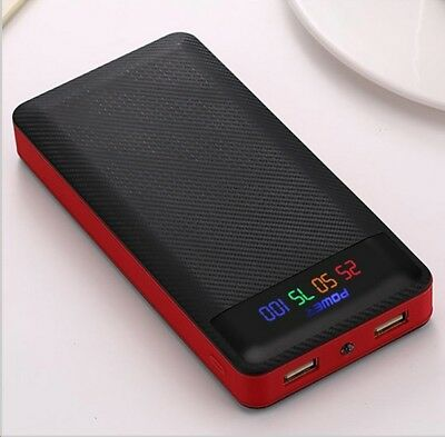 Case Box batterie 18650 litio PowerBank  2 USB 2A 5400 mAh 10800 mAh 15600 mAh
