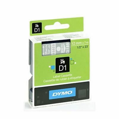 Dymo White on Clear 1000/5000 D1 Standard Tape 12mmx7m S0720600 [ES45020]