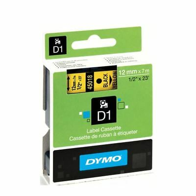 Dymo Black on Yellow 4500 D1 Standard Tape 12mmx7m S0720580 [ES45018]
