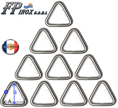 Anneau Triangulaire inox 6mm x 50mm ( Lot de 10 ) inox Triangle
