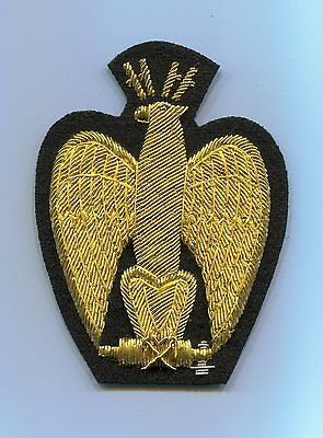 Italian Gold Cap Badge for Officers of the Black Shirts