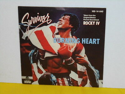 "Single 7"" - Survivor - Burning Heart - Rocky Iv"