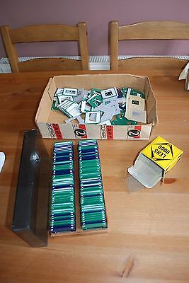 Job Lot of Slide Cases and Some Glass Squares
