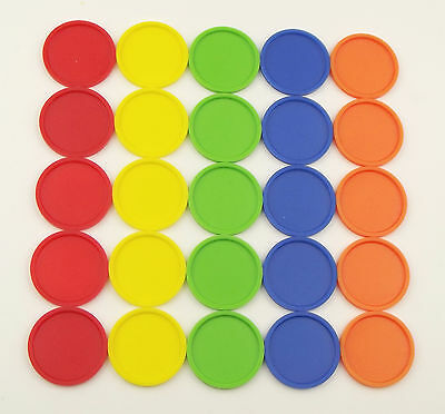 Deposit Coins Tokens 27mm in 5 Different Colours Quantities Selectable