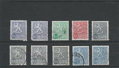 Finland - Assorted Definitive Used Stamps
