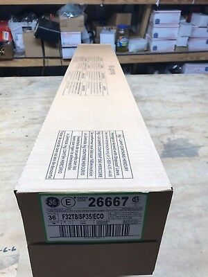 Case Of  36 Ge T8 Light Bulb 4ft F32t8/sp35/elo 26667 New Florescent Bulbs