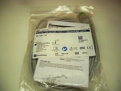 GE Multi-Link ECG Care Cable, 3 leads,w/Grabber, AHA, 3.6m/12ft- 2021141-001,