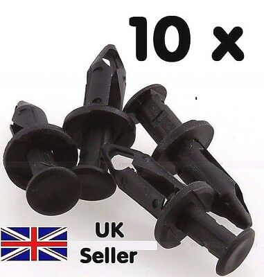 10 x  8mm Door Hole Trim Panel Black Plastic Rivet Pin Clip Fastener for Car
