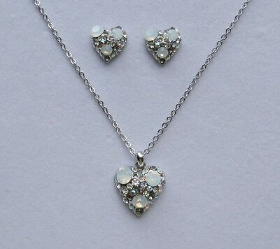 Fashion Heart Pendant Necklace with Australia Crystals  Perfect Gift N1235