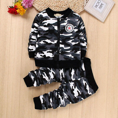 Kids Baby Boys Military Clothes Clothing Sets Boy Child Outfits Suit Coat+Pants