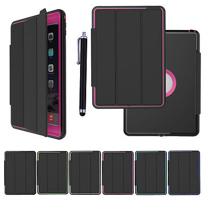 Heavy Duty ShockProof Hard Case& Smart Stand Cover for iPad 4 3 2 mini Air lot