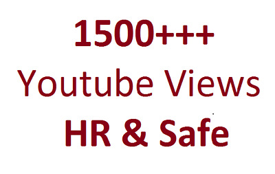 Get 2000 High Retension and safe YT Video Views Splitable