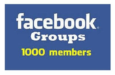 Add 1000 Members to your FB Group - Social media marketing Get Your Site Noticed