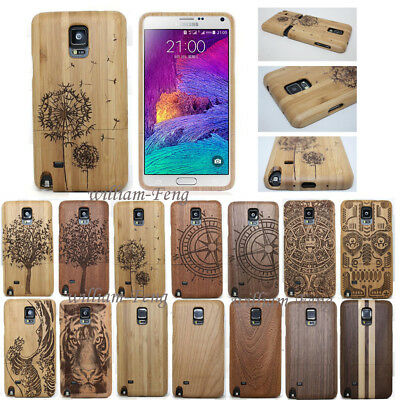 Natural Wood Bamboo Hard Case Cover for Samsung Galaxy Note 5 S7 S8 S9+ Plus