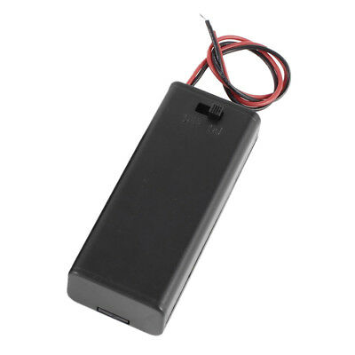 2 x 2 x AAA 3 V Battery Holder Case Box Wire ON / OFF Switch m Cover T2J3