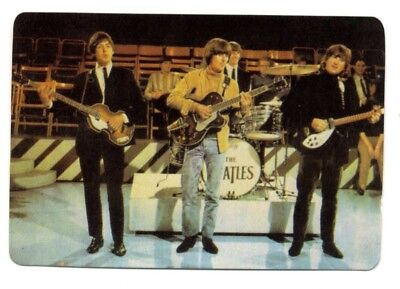 * Come Together * BEATLES- 1 PORTUGAL pocket calendar CARD 1987