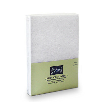 Terry Cotton Waterproof Mattress Protector Fitted Sheet, 90x200cm,(Single Bed)