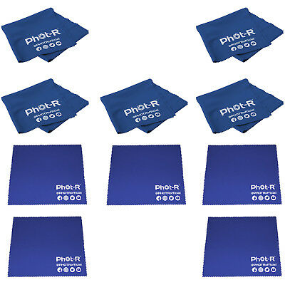 10x Microfibre & Chamois Optical Camera Lens Cleaning Cloth Glasses Phone Tablet