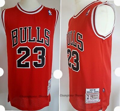 Nba Michael Jordan #23 Chicago Bulls Swingman Jersey Red Retro S-M-L-Xl