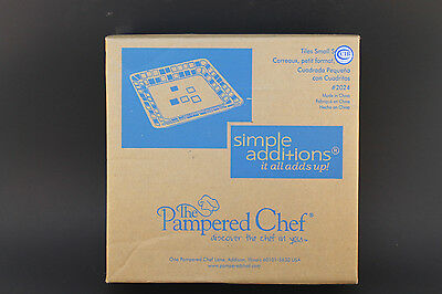 New Pampered Chef Simple Additions Square Dish Tile Pattern #2024