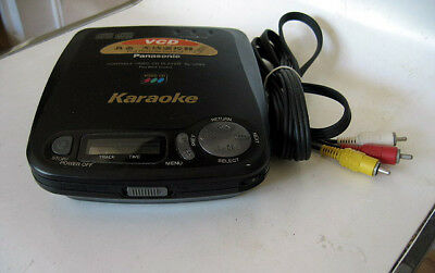 Panasonic Cd/vcd/cdg Karaoke Cd+G Graphics Video Player Sl-Vp55 Portable