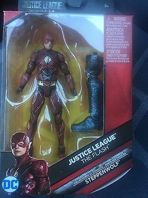 """New Justice League Dc Multiverse The Flash 6"""" Figure In Hand W/ Steppenwolf Baf"""