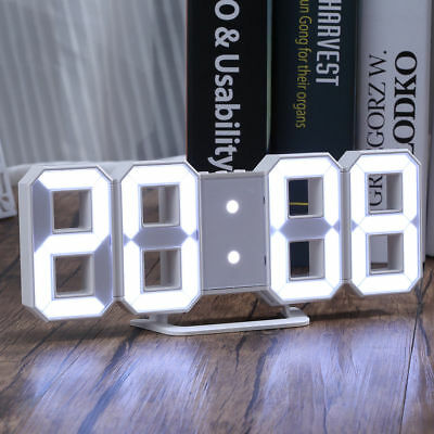 3d led digital wanduhr timer gro e modern wall clock uhr schwarz und gr n eur 12 78 picclick de. Black Bedroom Furniture Sets. Home Design Ideas