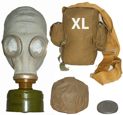 Genuine Russian rubber GP5 Gas Mask with filter and bag. Large - Size 4