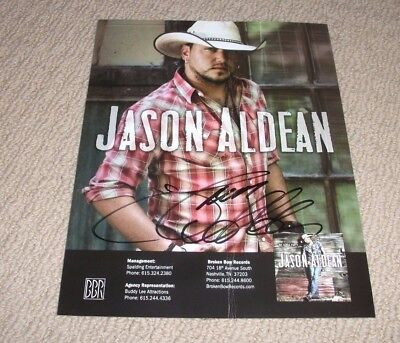 Jason Aldean - Autographed 8X10 Promo Photo *signed* Country Music Star