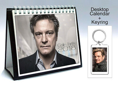 Colin Firth Kingsman The Secret Service 2018 Desktop Holiday Calendar + Keyring