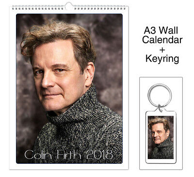 Colin Firth Kingsman The Secret Service 2018 Wall Holiday Calendar + Keyring