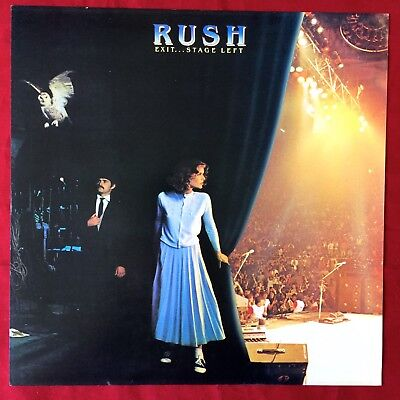 "Rare RUSH: ""Exit…Stage Left"" PROMO ALBUM FLAT WALL DISPLAY 12"" x 12"" POSTER"