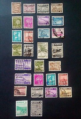 Bangladesh stamps - 1970's/80's - service overprint- used and unused