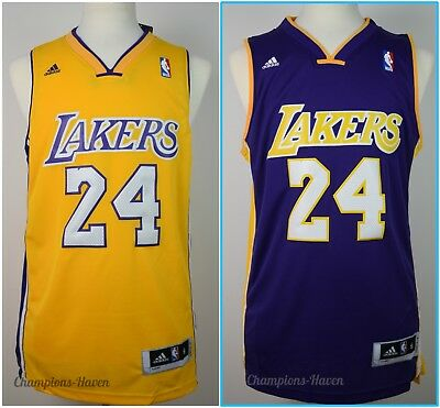 NBA Kobe Bryant #24 LOS ANGELES LAKERS SWINGMAN JERSEY GOLD/PURPLE S-M-L-XL