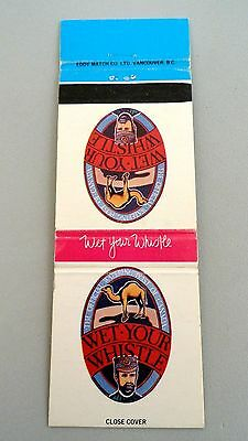 Matchbook Cover ~ WET YOUR WHISTLE The Official Watering Post of Canada RS 20 Ed