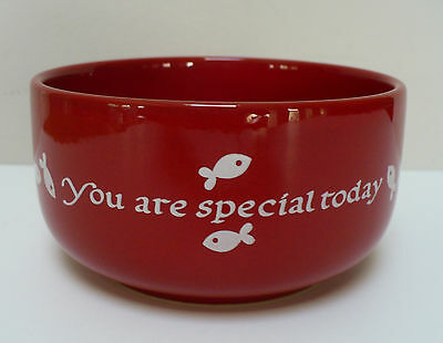 Kitty Cat Food Dish You Are Special Today Bright Red Waechtersbach Germany