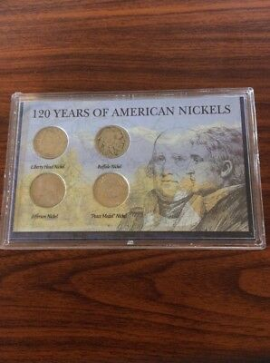 120 Years of American Nickels - 1903, 1935, 2003, 2004