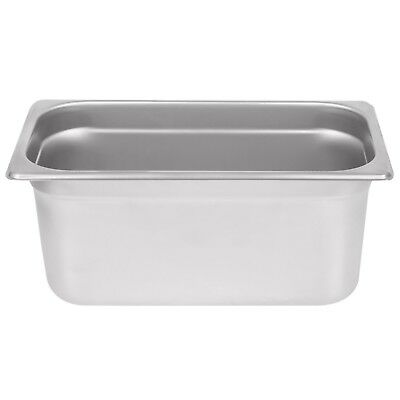 """Stainless Steel Steam Pan 6"""" Deep 1/3 Size: 12 3/4"""" x 7"""""""
