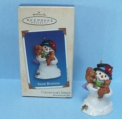 Hallmark Snow Buddies 2003 6th Sixth in Series Christmas Snowman With Squirrels