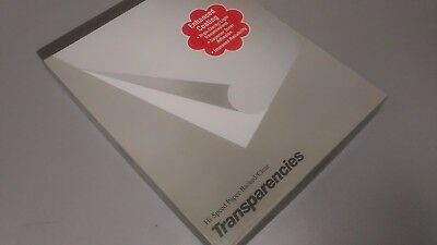 XEROX TRANSPARENCIES 3R3028 - 100 SHEETS PER BOX Hi-Speed Paper-Backed/Clear