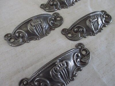 Antique Lyre Drawer Handle Pulls Harp Window Lifts Vtg Duncan Phyle Eastlake USA