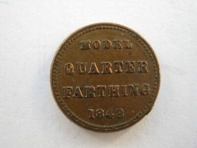 1848 Model Quarter Farthing EF