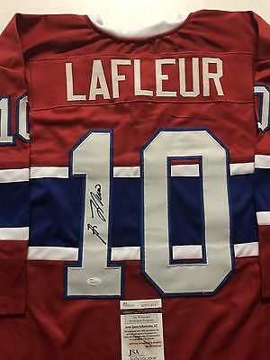 Autographed/Signed GUY LAFLEUR Montreal Canadiens Red Hockey Jersey JSA COA Auto