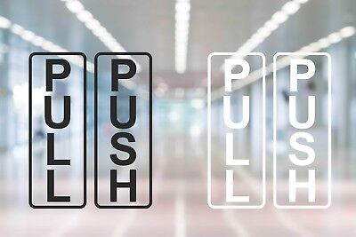 Pull Push Door Stickers Shop Window Salon Cafe Restaurant Office Vinyl Sign D2