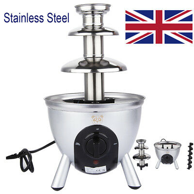34cm Commercial Stainless Steel Chocolate Fountain Fondue Electric Machine Party