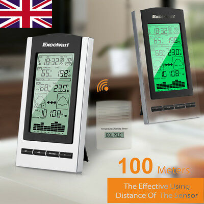 Wireless Digital Weather Station Forecast Barometer Temperature Humidity Dew UK