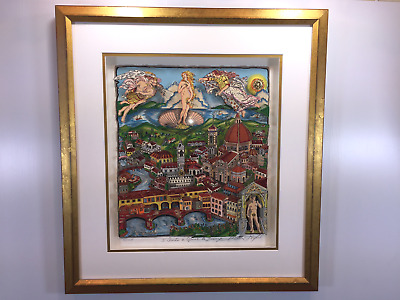 "Charles Fazzino ""The Italy Suite: Florence"" AP Edition Limited 3-D Pop Art"